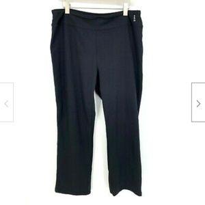 Lands End Sport Black Athleticwear Yoga Pants